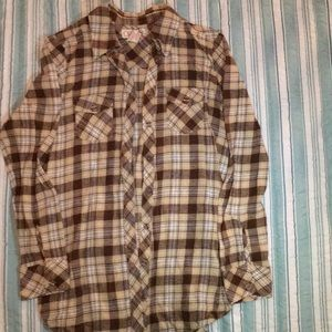 OP Brown Flannel Shirt